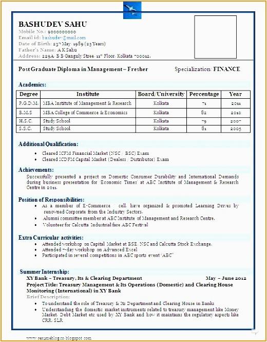 merce graduate fresher resume sample