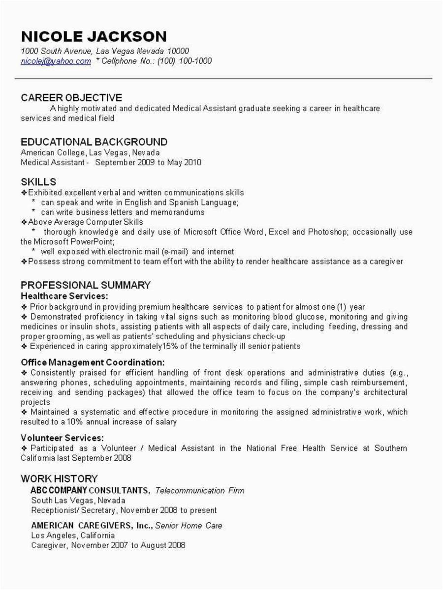 example resume after being stay at home