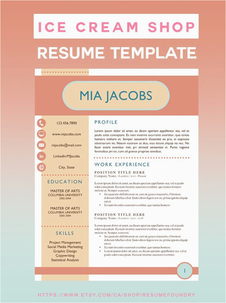Sample Resume for Ice Cream Shop This is the Best Resume Template for A Summer Job at An