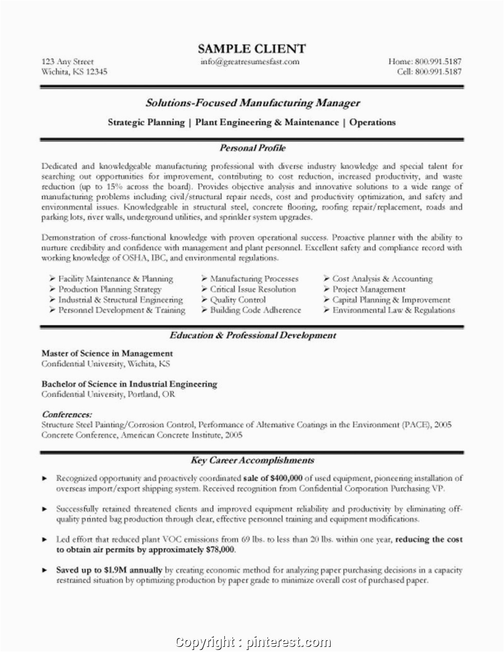 simple export manager resume sample