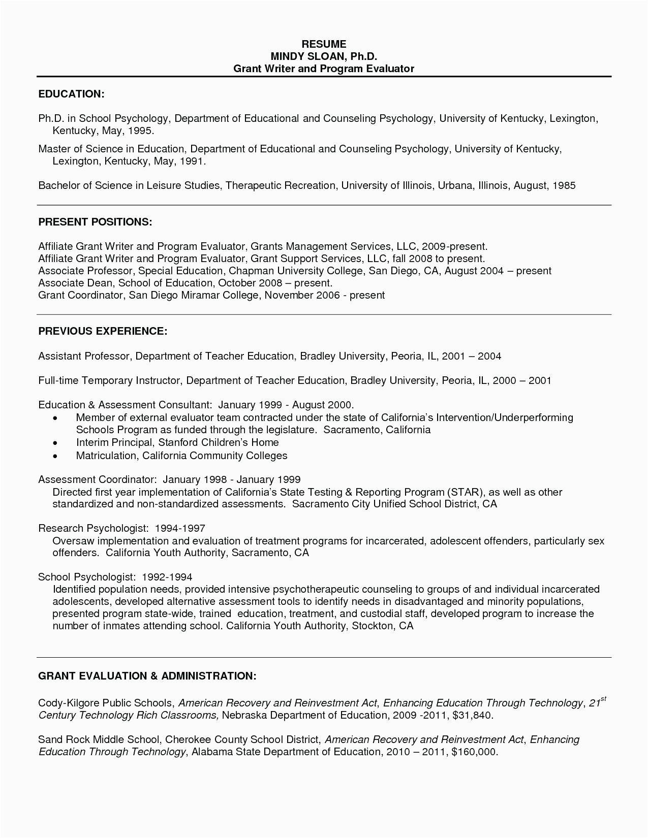 Sample Resume for Master S Admission Grad School Resume Resume Templates for Masters Program