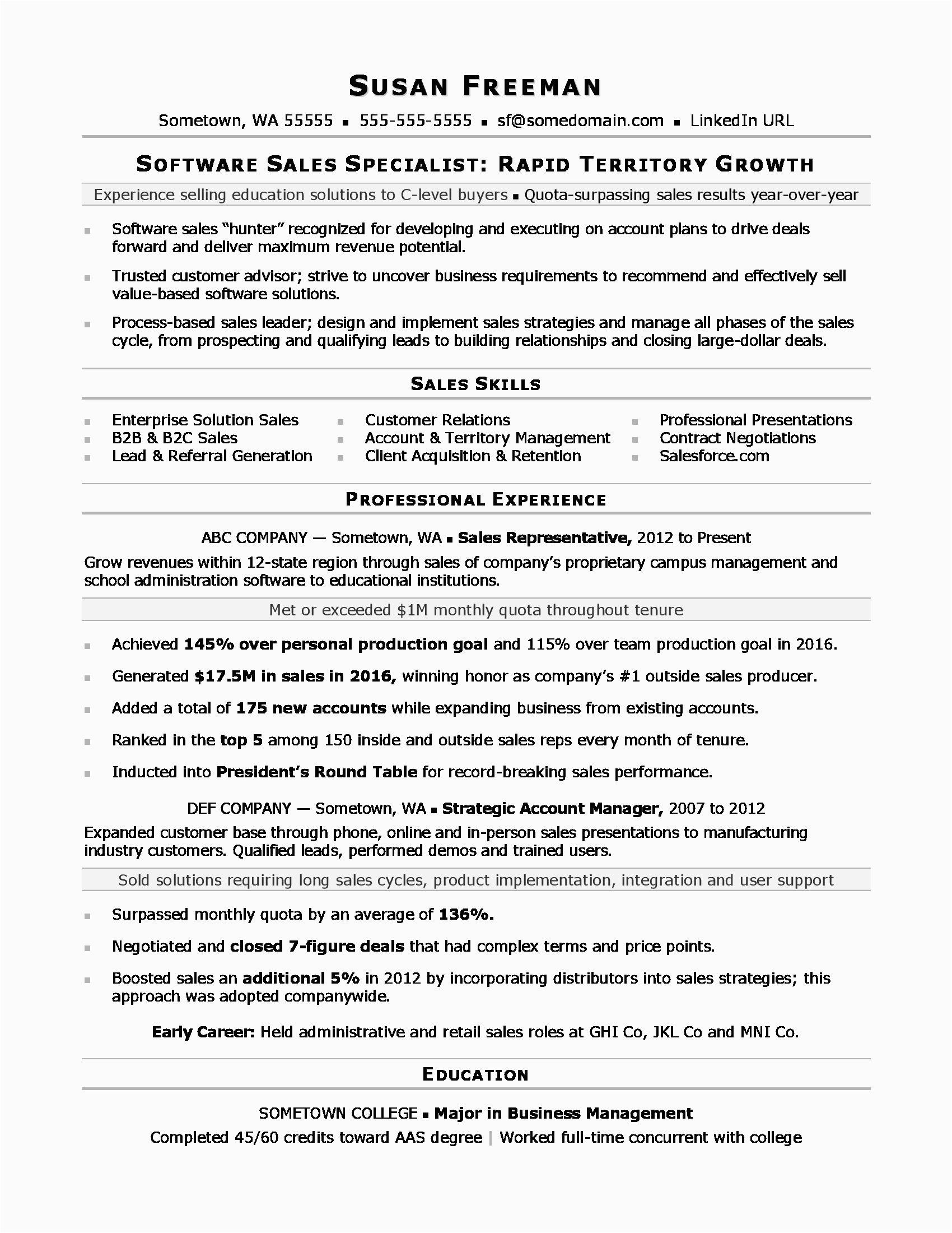 Sample Resume for Sales associate Position Sales associate Resume