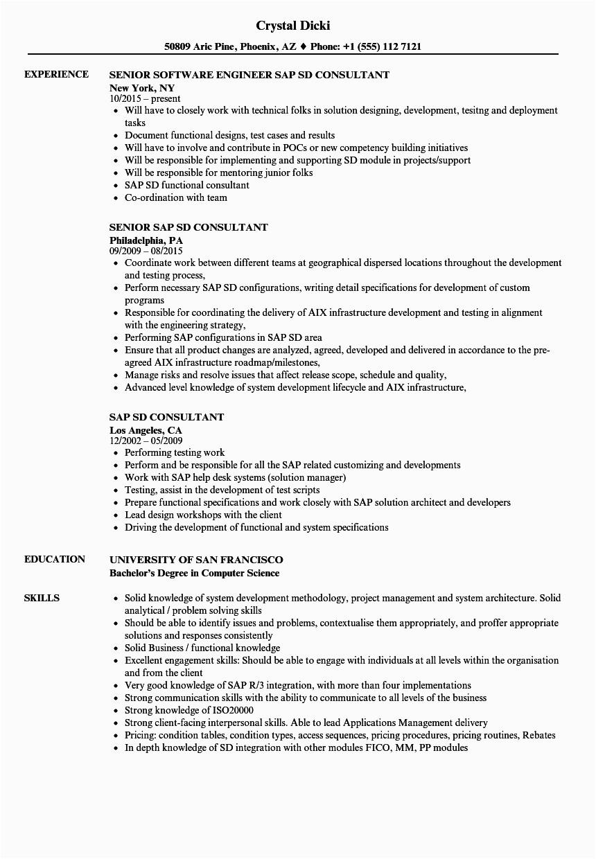 Sample Resume for Sap Fico End User Sap Fico End User Resume Sample