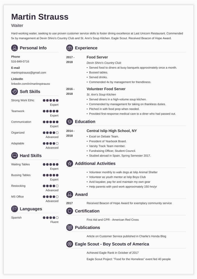 teen resume example