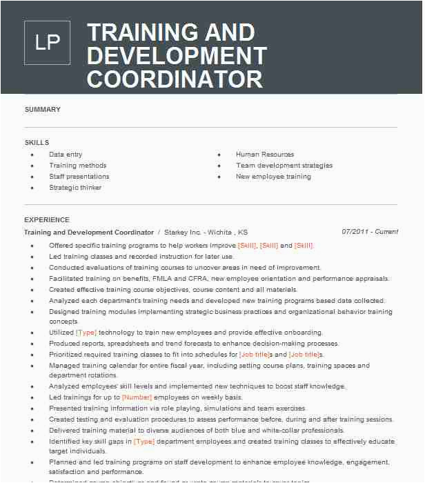 training development coordinator 99e344b5d8434ed5bda4e89a97f0e03d
