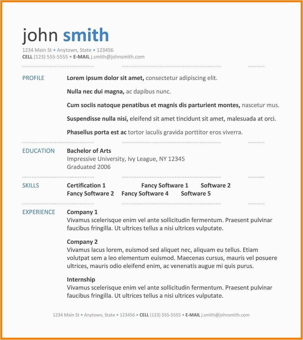 Sample Resume format for Freshers Free Download Best Free Resume Templates Download for Freshers Sample C
