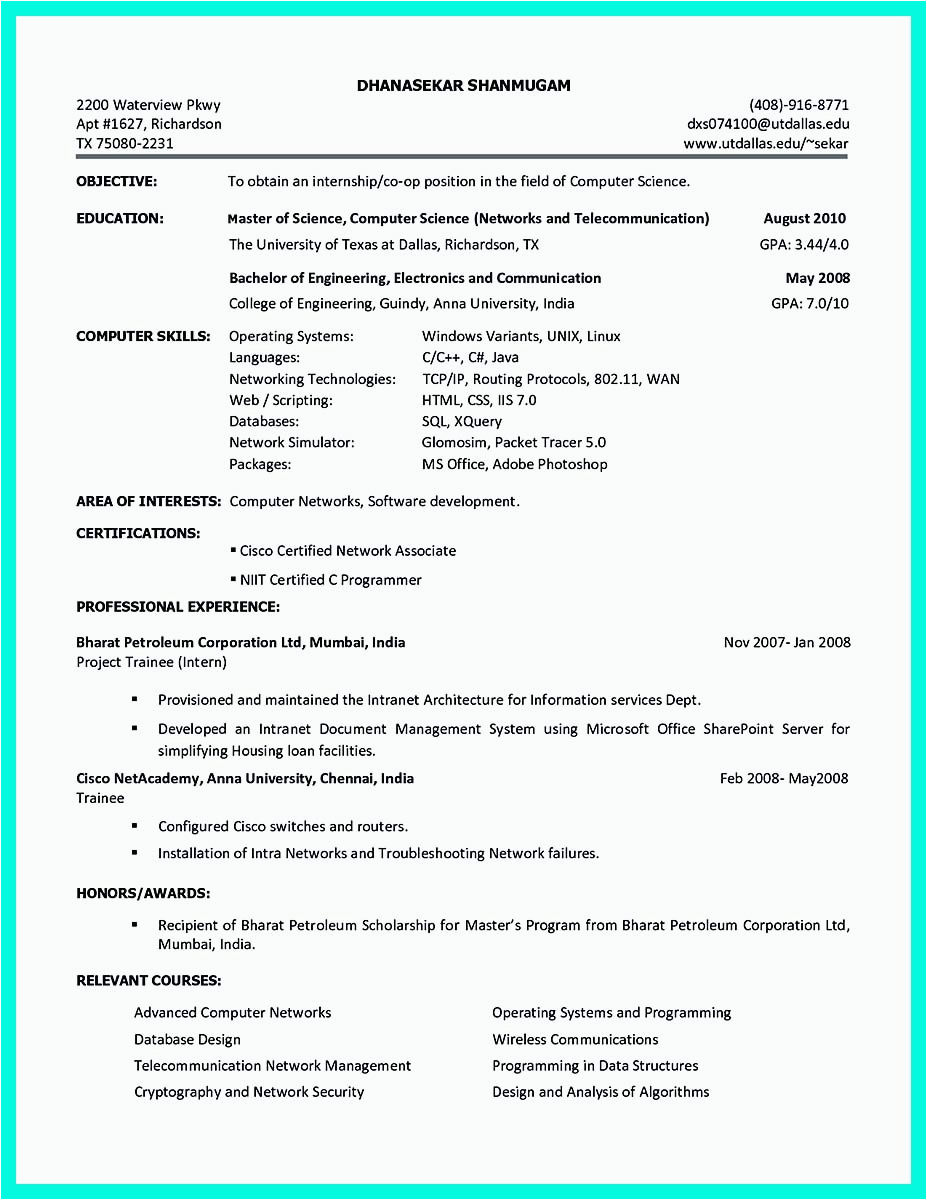 Sample Resume Profile for College Student Best College Student Resume Example to Get Job Instantly