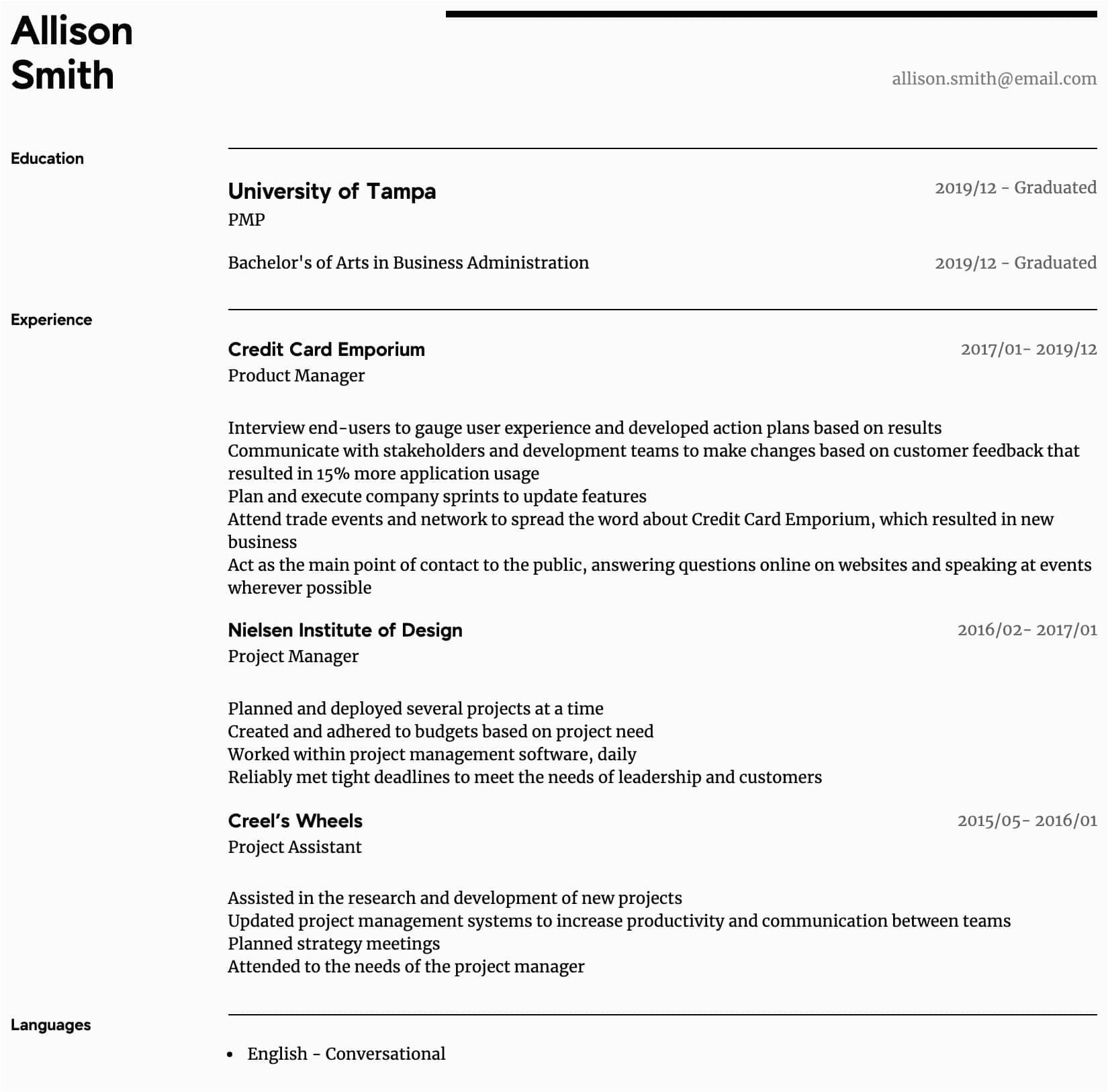 program manager resume sample