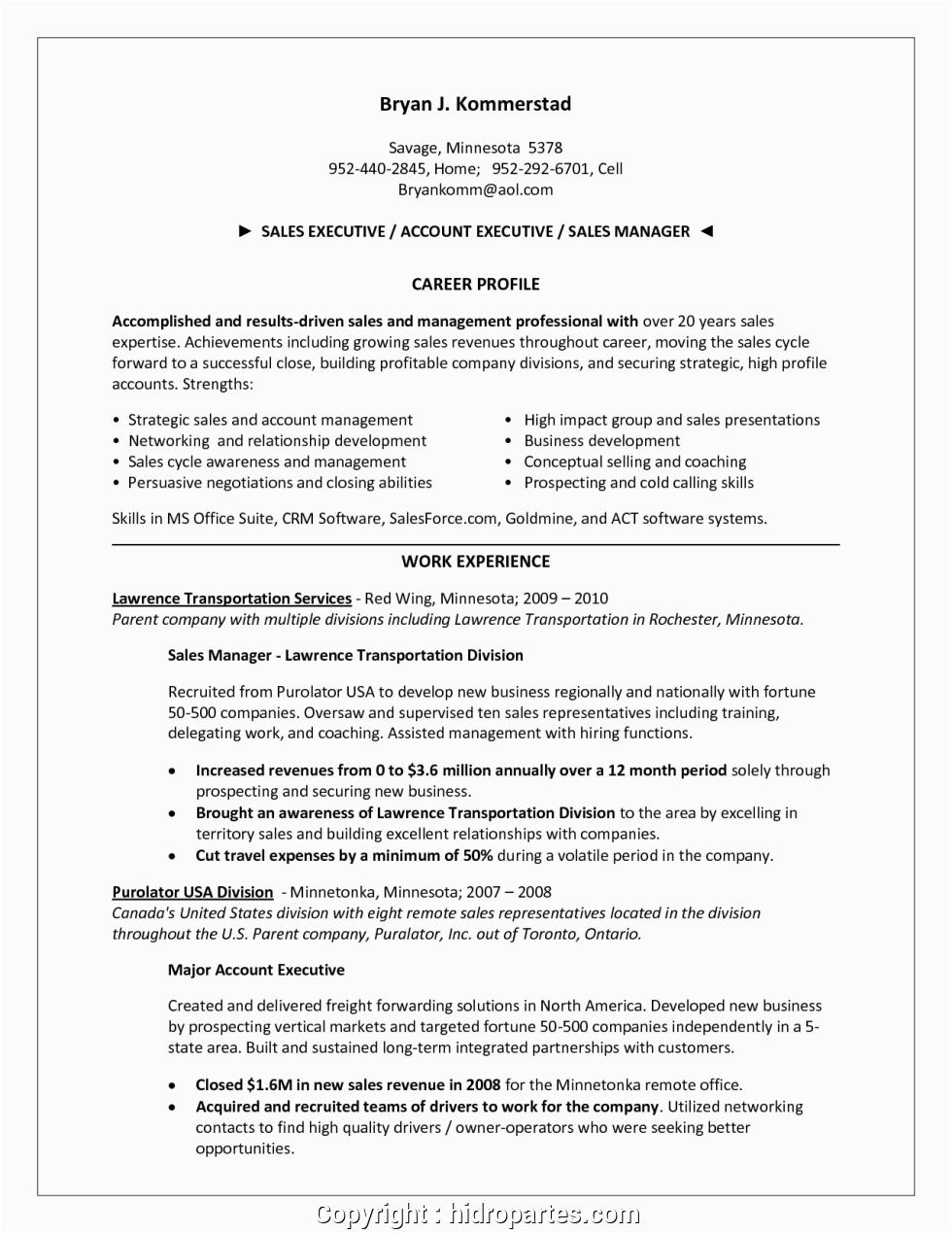 create sales resume ac plishments