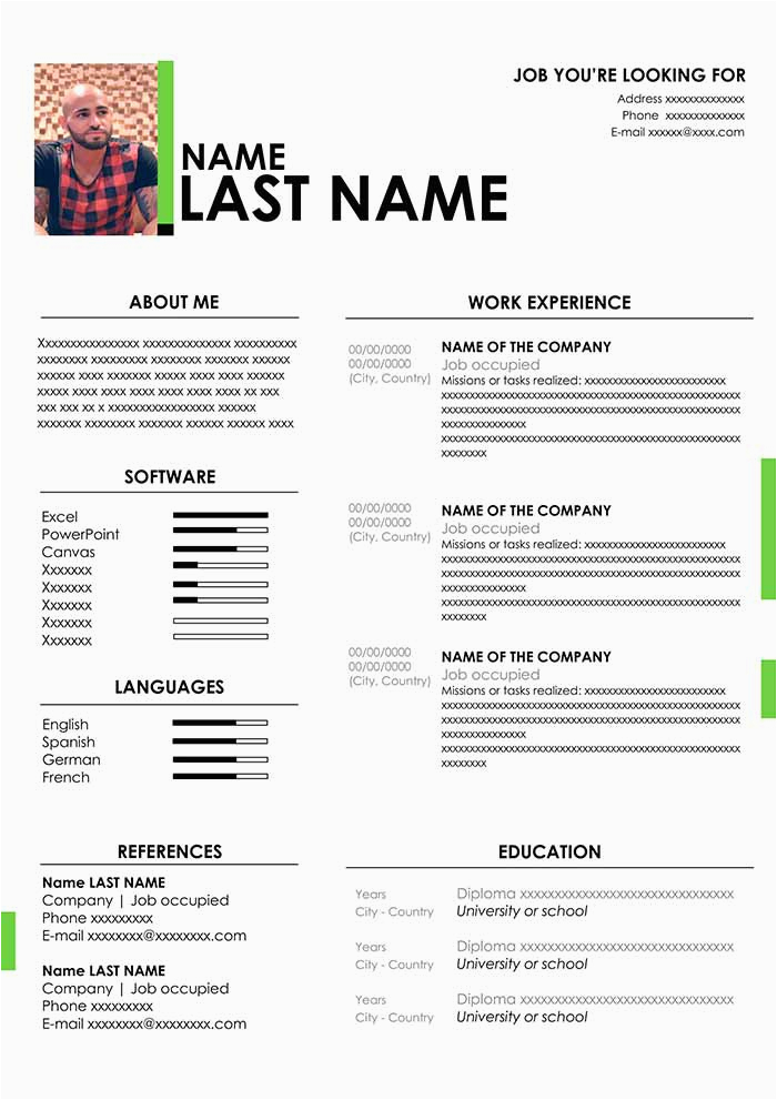 simple job application email sample database