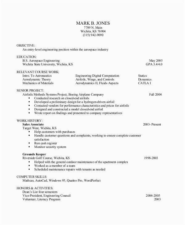 Entry Level Resume No Experience Sample Free 10 Entry Level Resume Samples In Ms Word