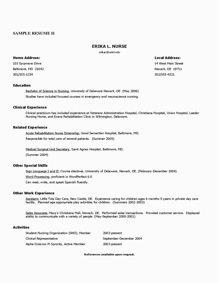 free registered nurse resume sample 2