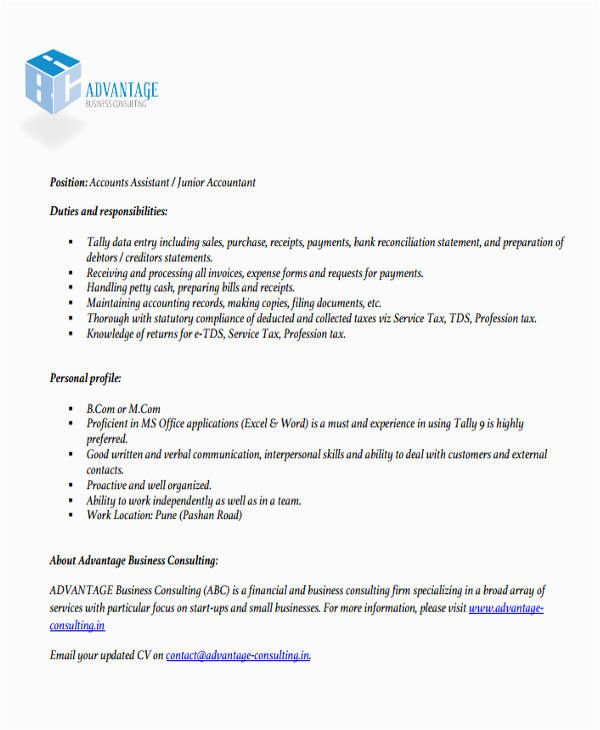 accountant resume format