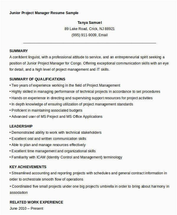free manager resume