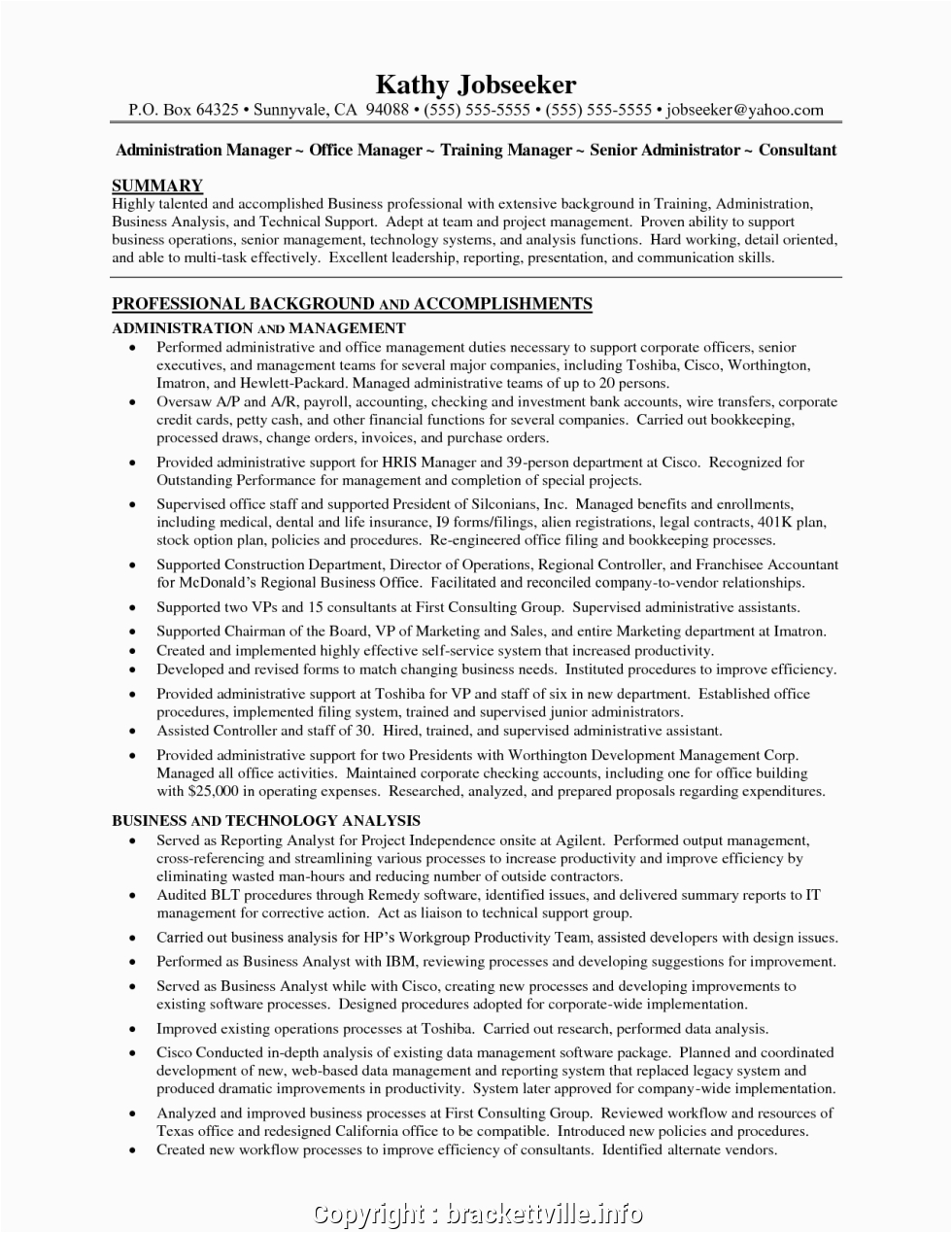 executive law firm office manager resume sample