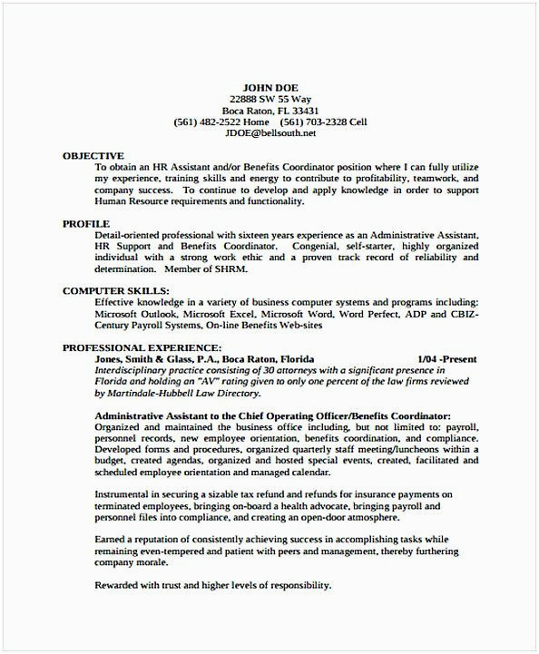 law firm office manager resume