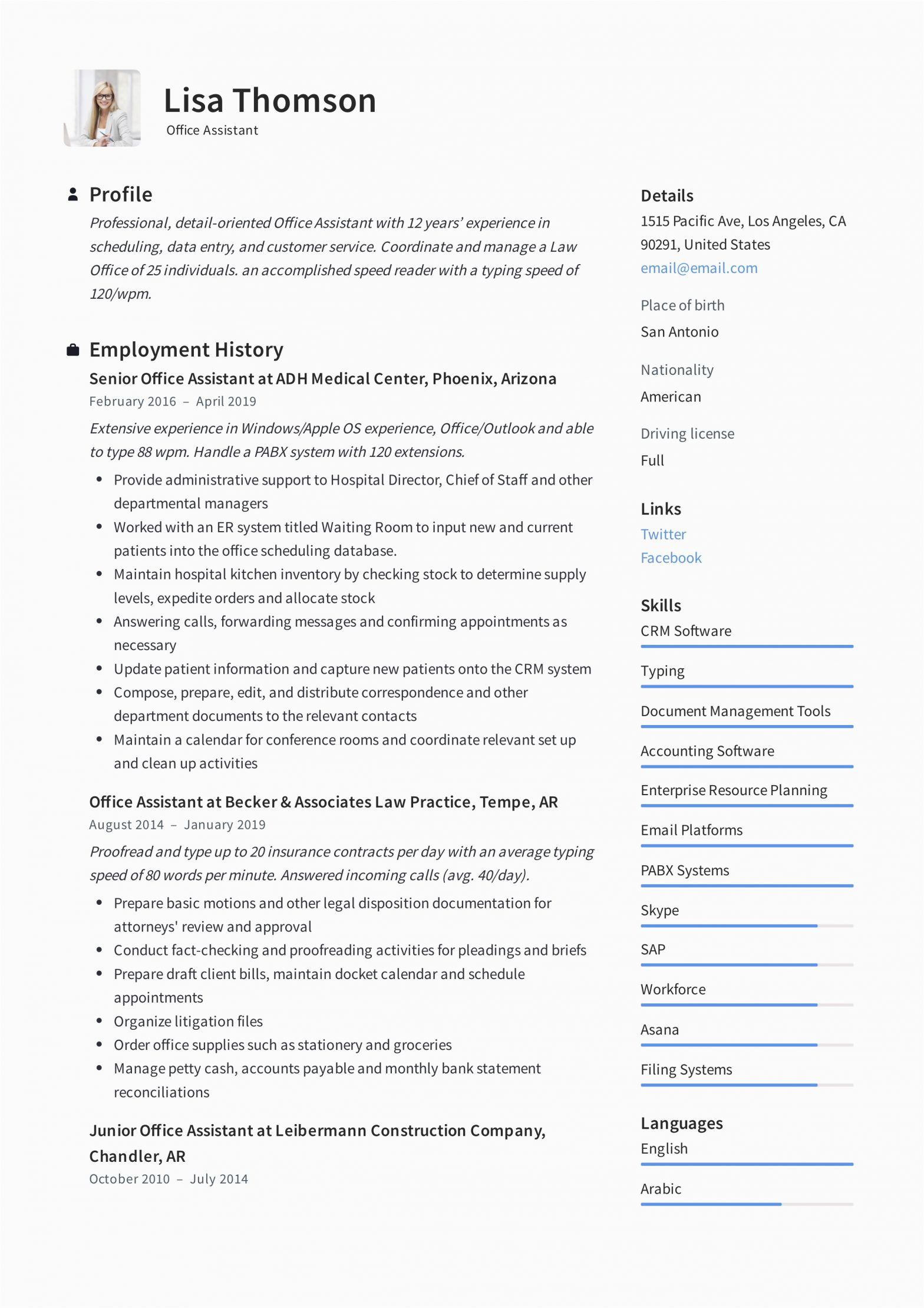 Resume Samples for Office assistant Job Fice assistant Resume Writing Guide