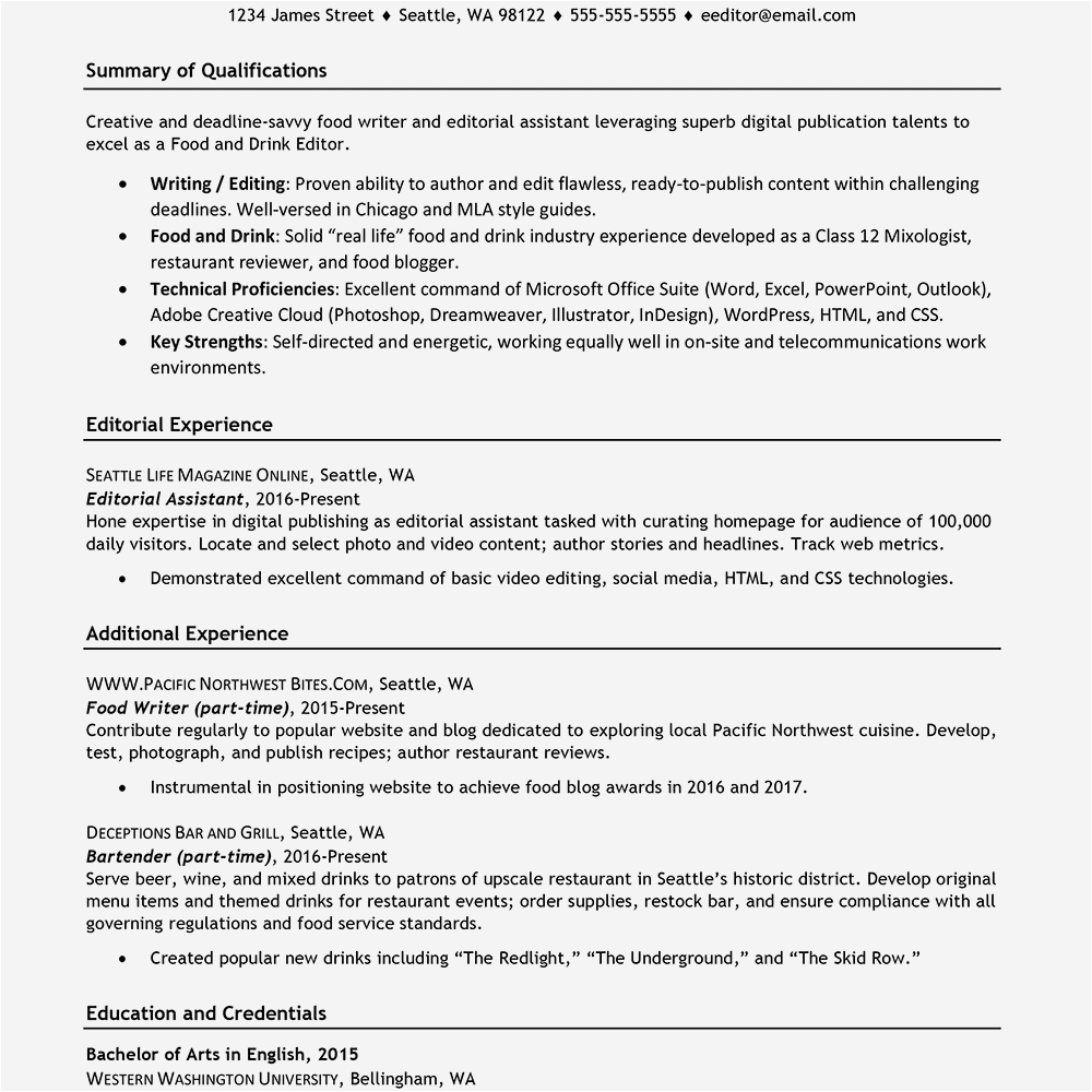 best resume for part time job in canada