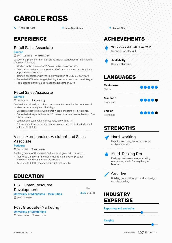 Retail Sales associate Job Resume Sample the Best Retail Sales associate Resume Examples & Skills