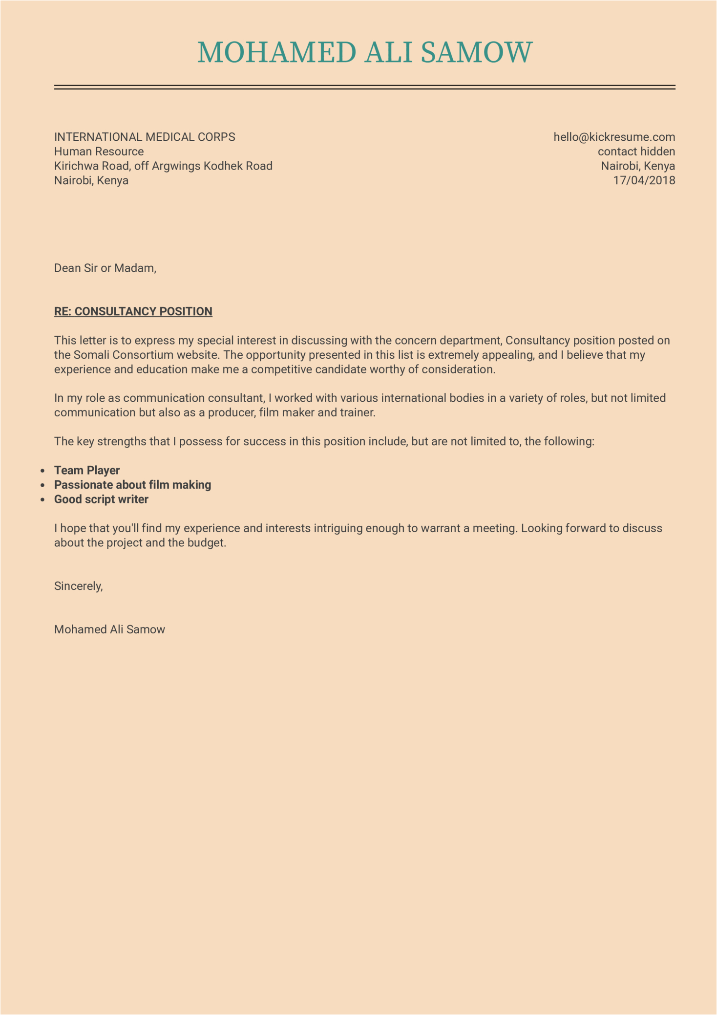 it project manager 1 cover letter sample