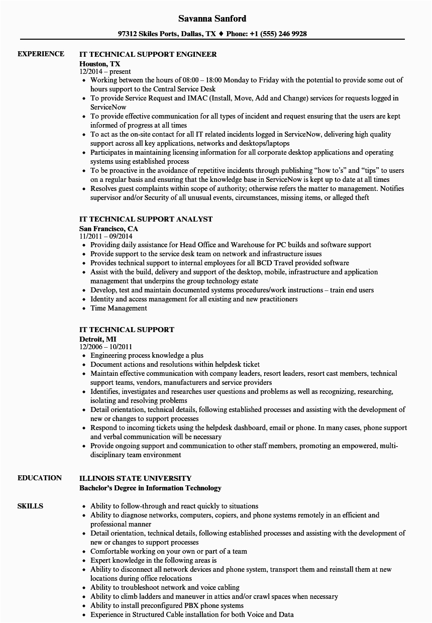 technical skills on resume examples