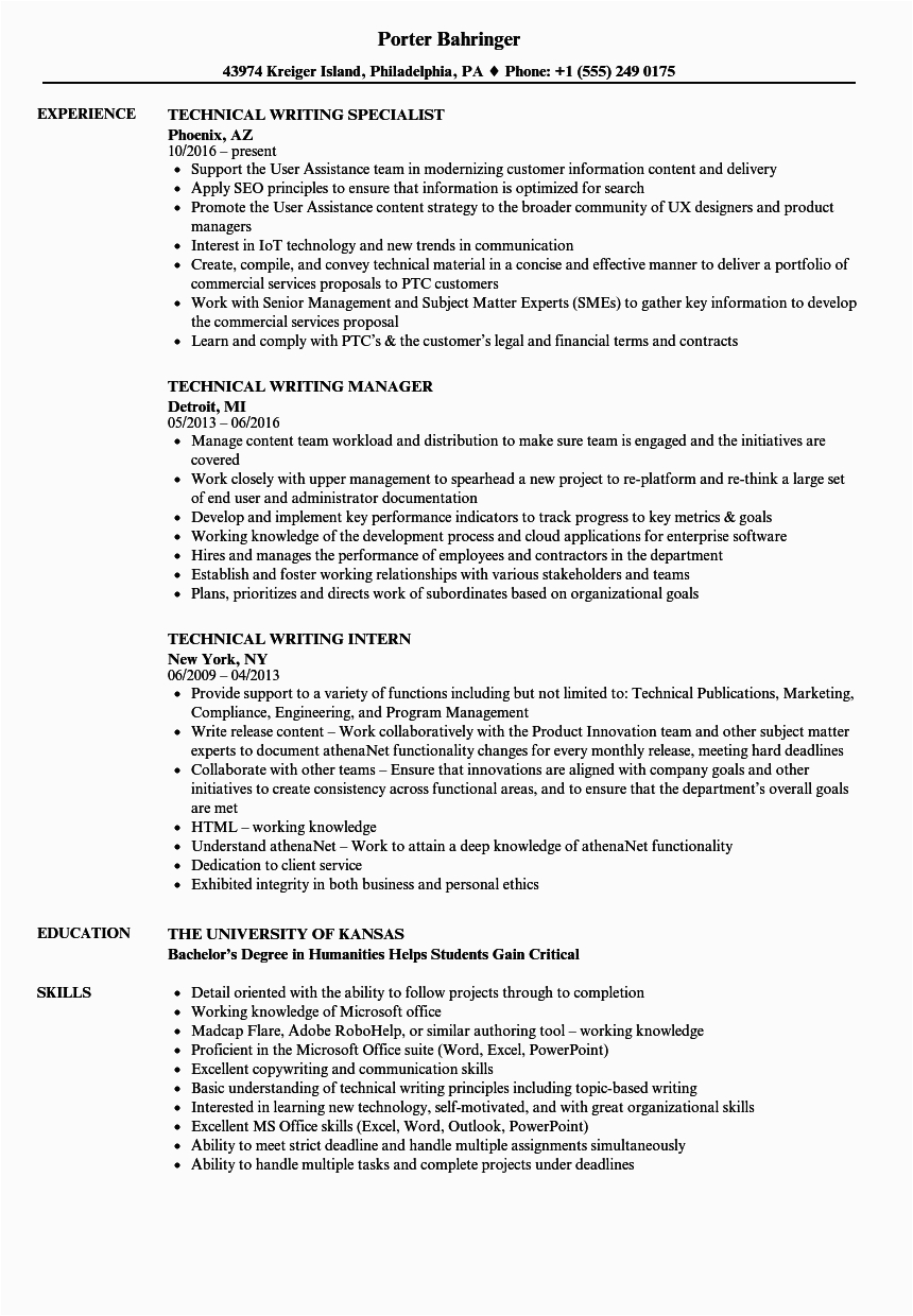 technical skills examples resume