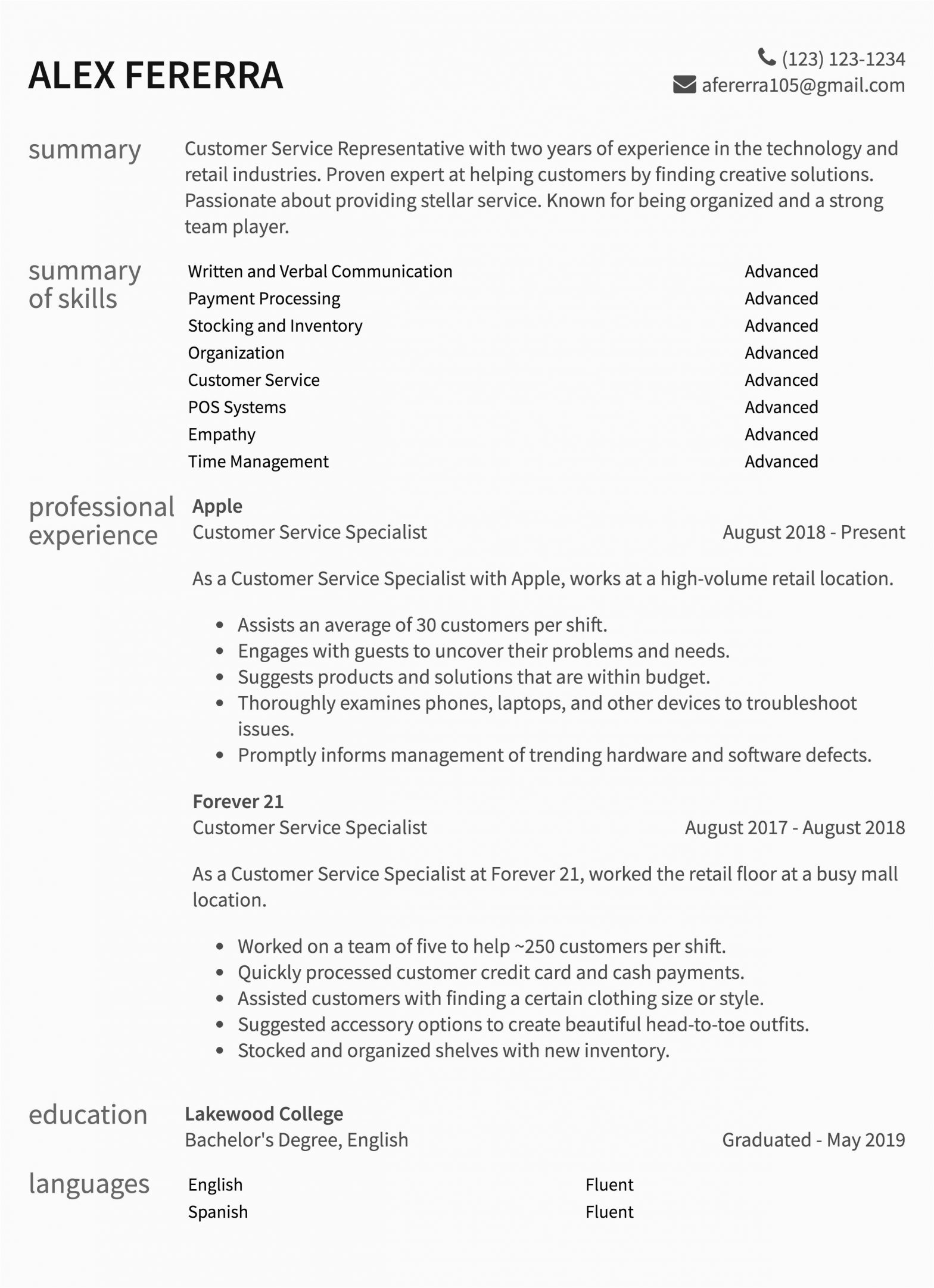 Sample Resume for A Customer Service Customer Service Resume Samples & How to Guide