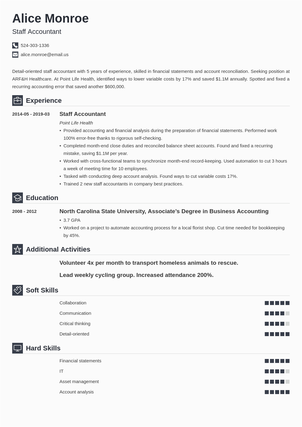 Sample Resume for Accounting Staff In the Philippines Staff Accountant Resume Example Template Iconic In 2020