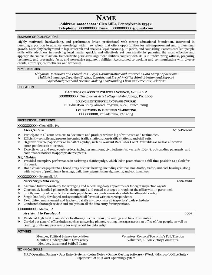 Sample Resume for Arts and Science Students Student Resume Samples Resume Prime