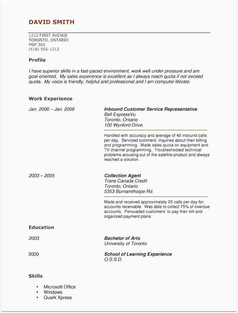 10 11 sample cna resume with experience