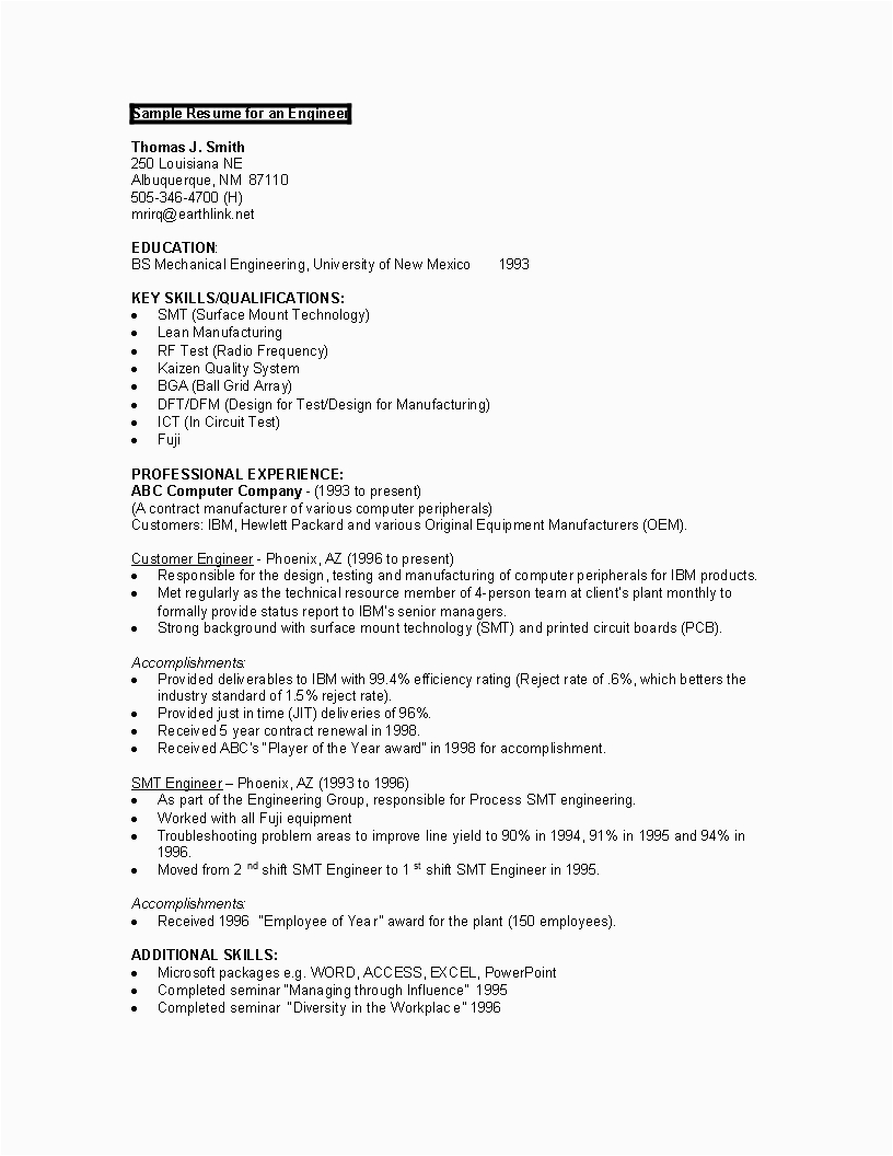 Sample Resume for Computer Engineering Students Sample Puter Engineering Student Resume