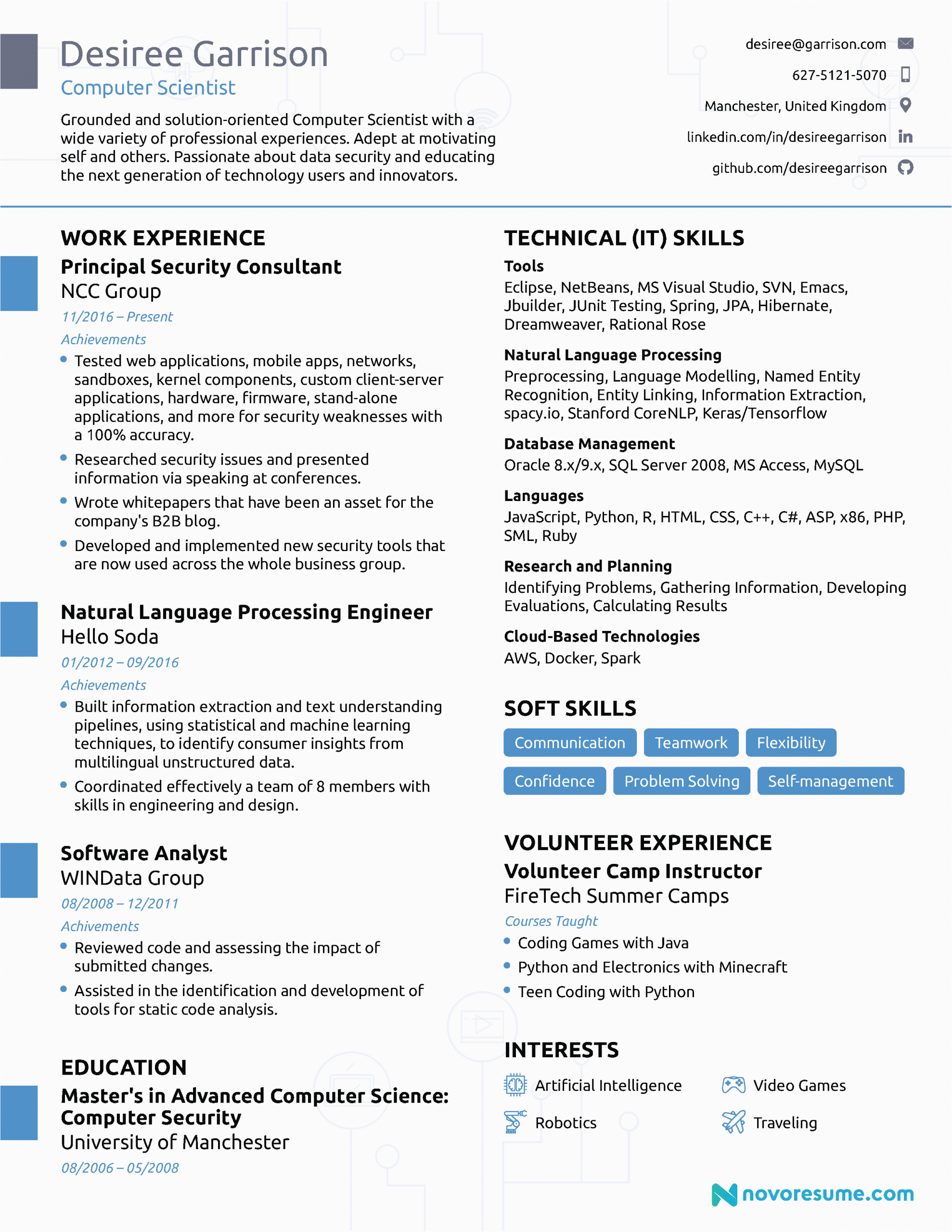 Sample Resume for Computer Science Faculty Puter Scientist Resume – Salescvfo