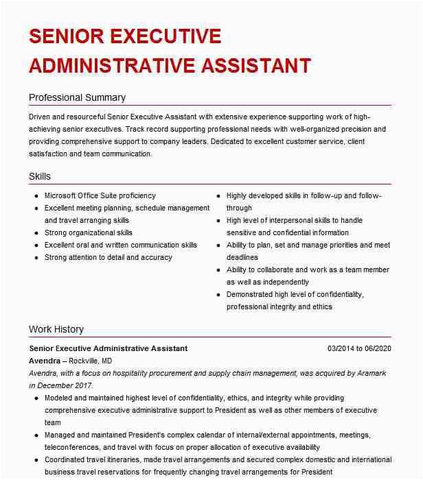 senior administrative assistant executive assistant 768fd3f aa5f945edc25cd5f4