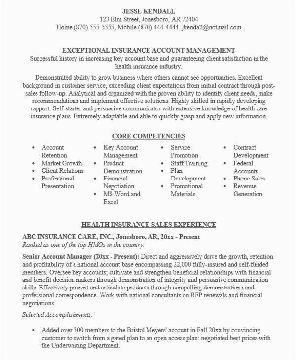 manager resume sample