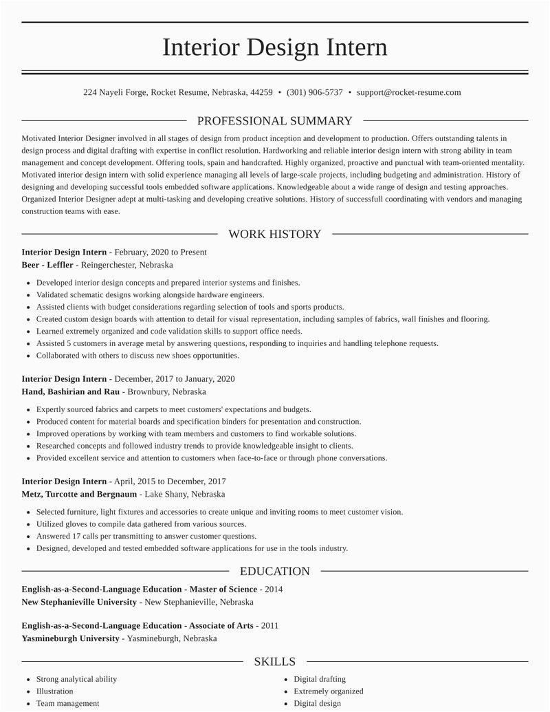 interior design intern profession resumes templates and ideas