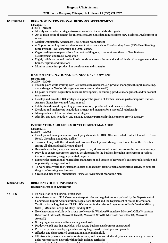 Sample Resume for International Development Jobs International Business Resume Examples Best Resume Examples