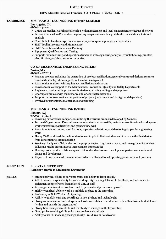 Sample Resume for Internship Engineering Student 12 Engineering Internship Resume Example Radaircars