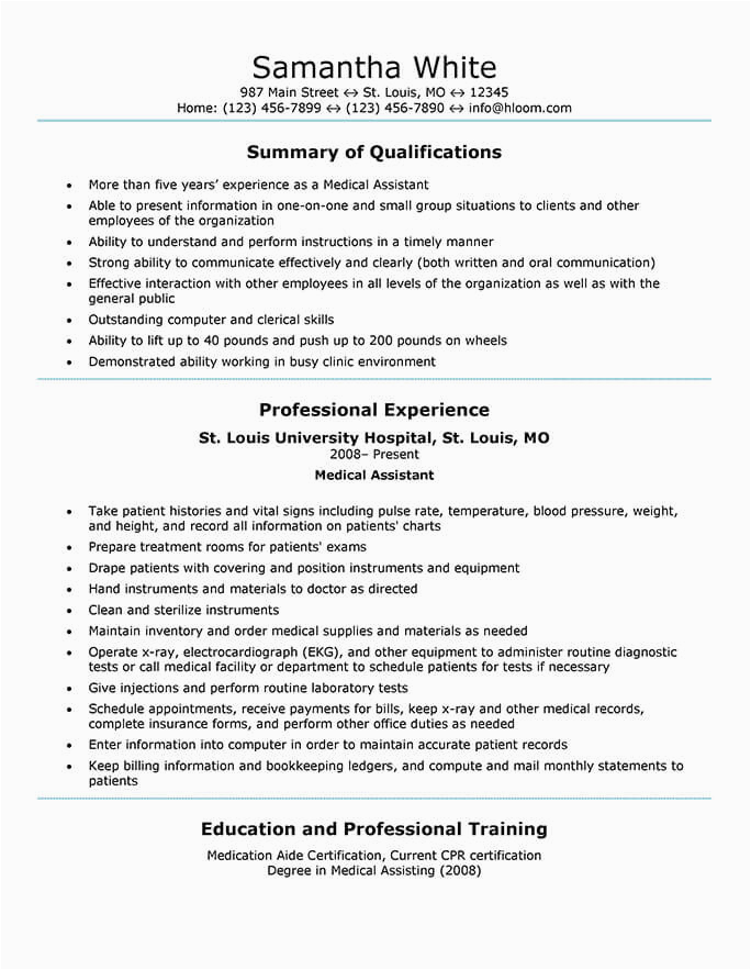 medical assistant templates