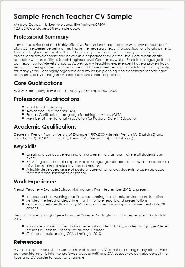 Sample Resume for School Principal Position In India Sample Resume for Teachers without Experience In India