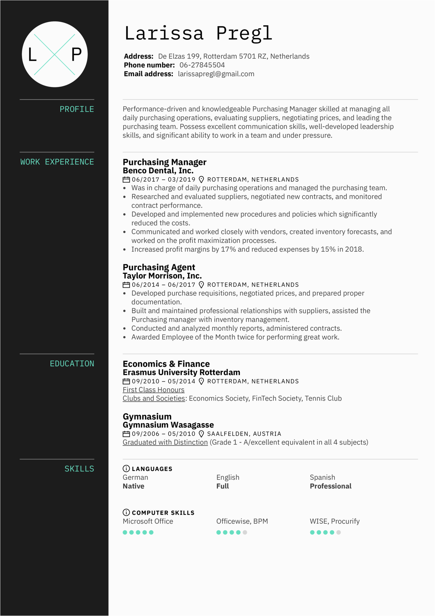 base purchase executive resume in word format AR