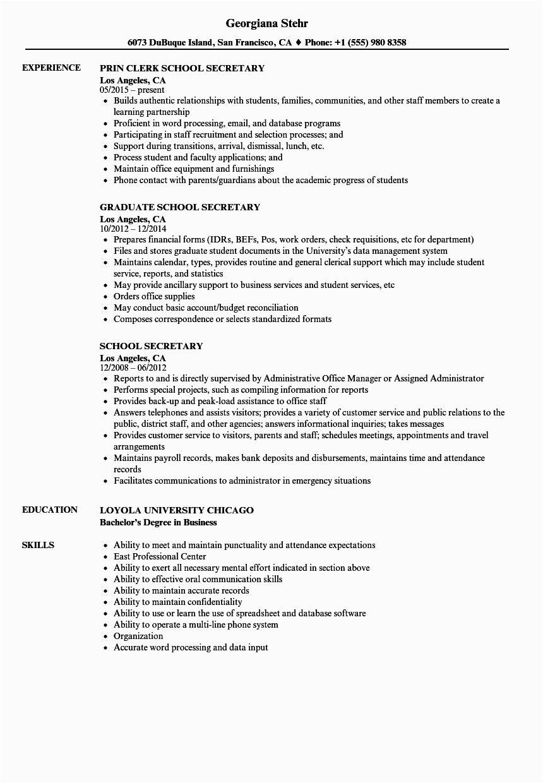 12 school secretary resume examples