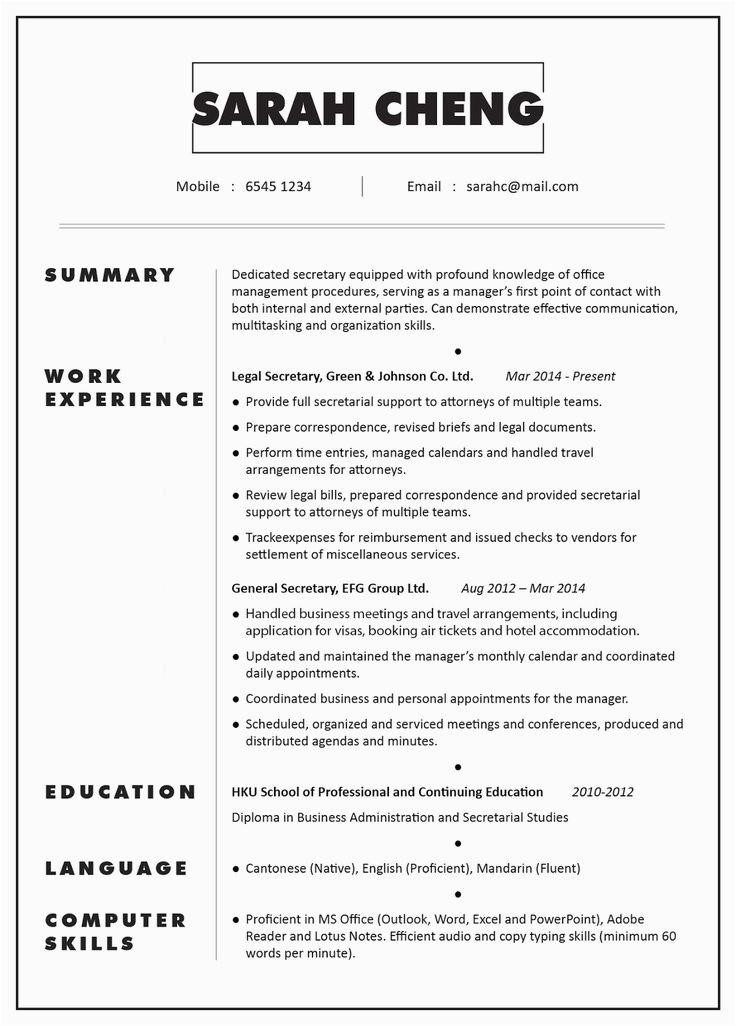 Sample Resume Objective for Secretary Position Secretary Resume Examples 2019 Free Resume Templates