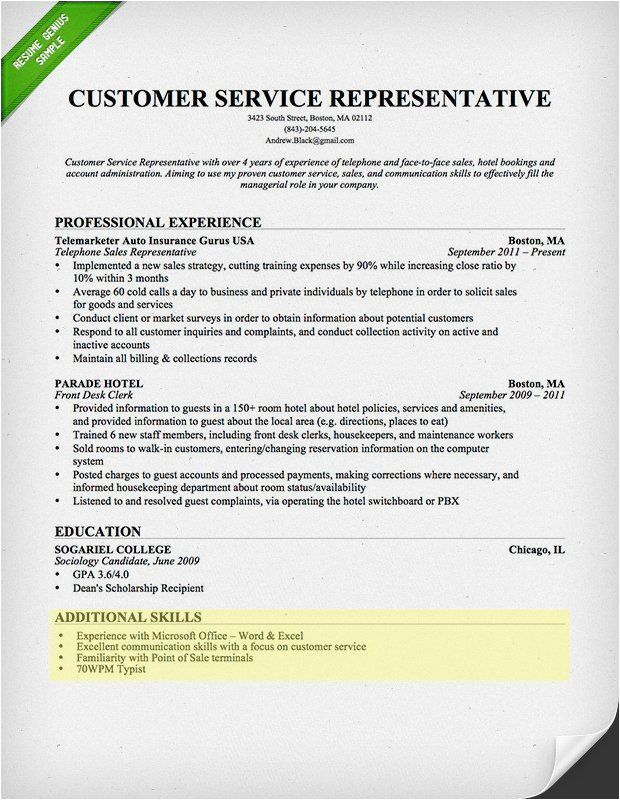 Sample Resume Skills Section Customer Service 100 Skills for Your Resume [& How to Include them