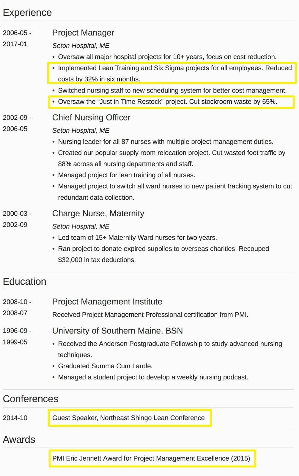 summary of qualifications