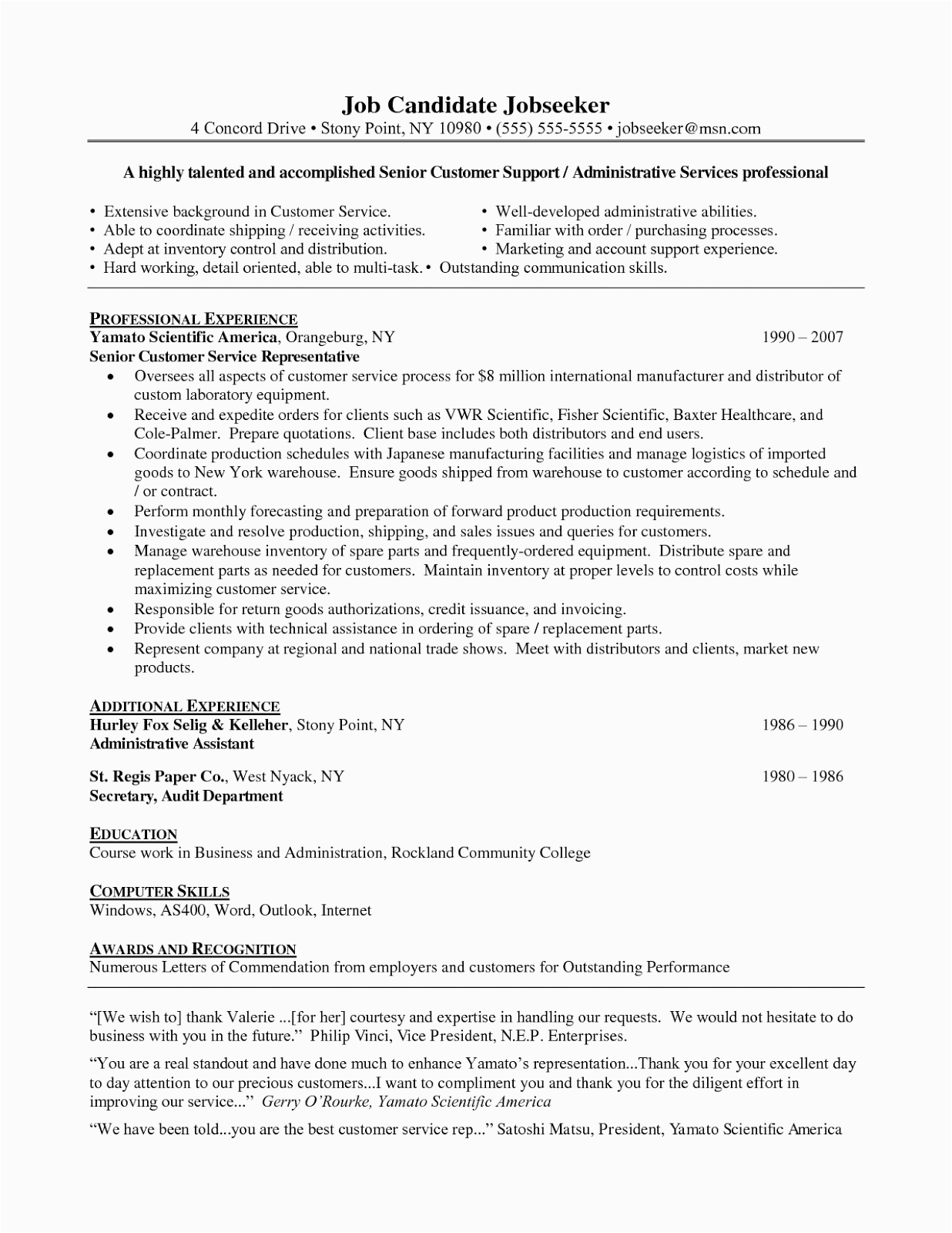career objective for customer service resume