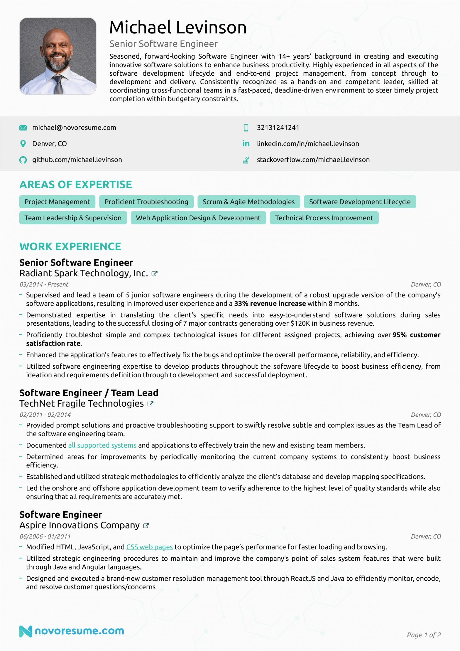 Sample Resume Templates for software Engineer software Engineer Resume Example How to Guide for 2020