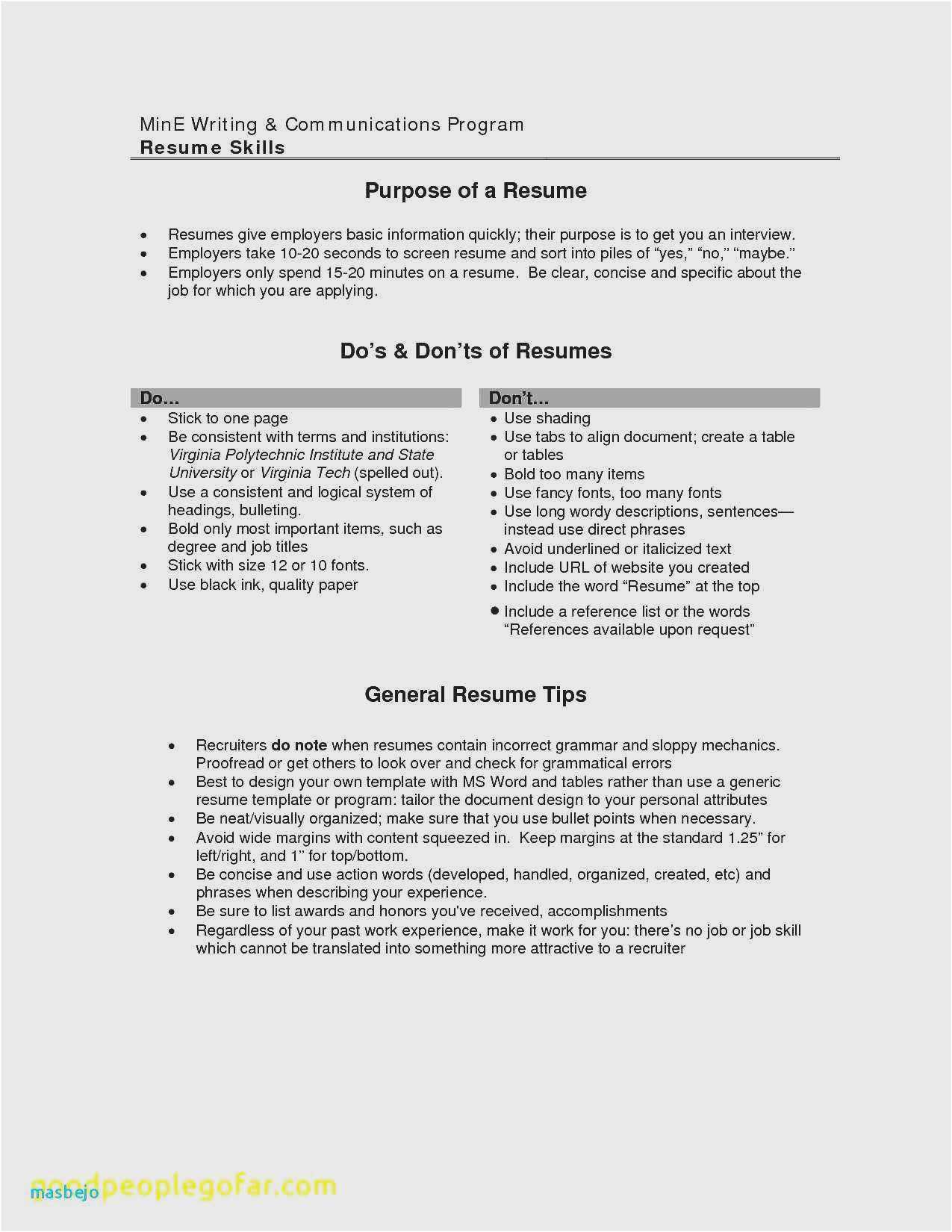 best resume advice