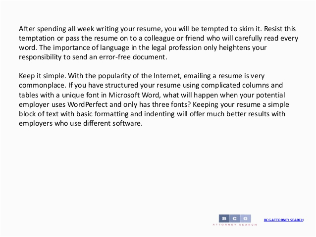 how to write a legal resume
