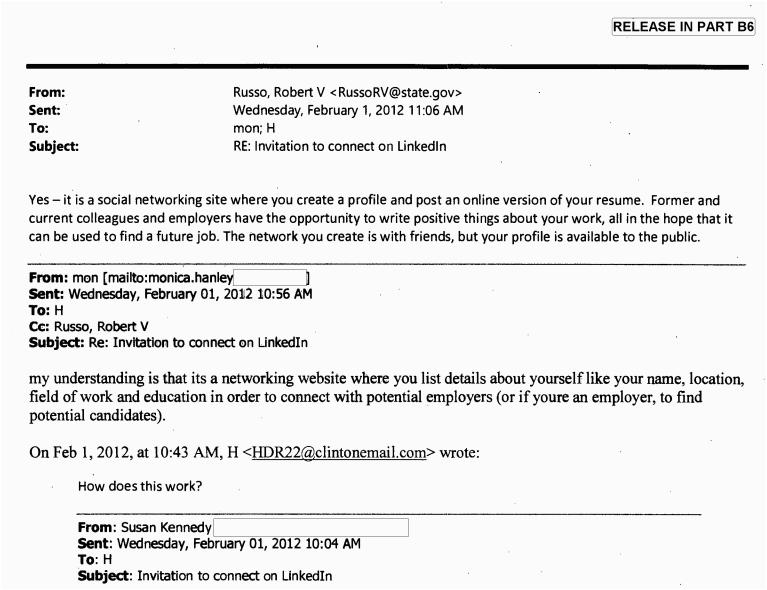 hillary clinton baffled by linkedin request 2015 10