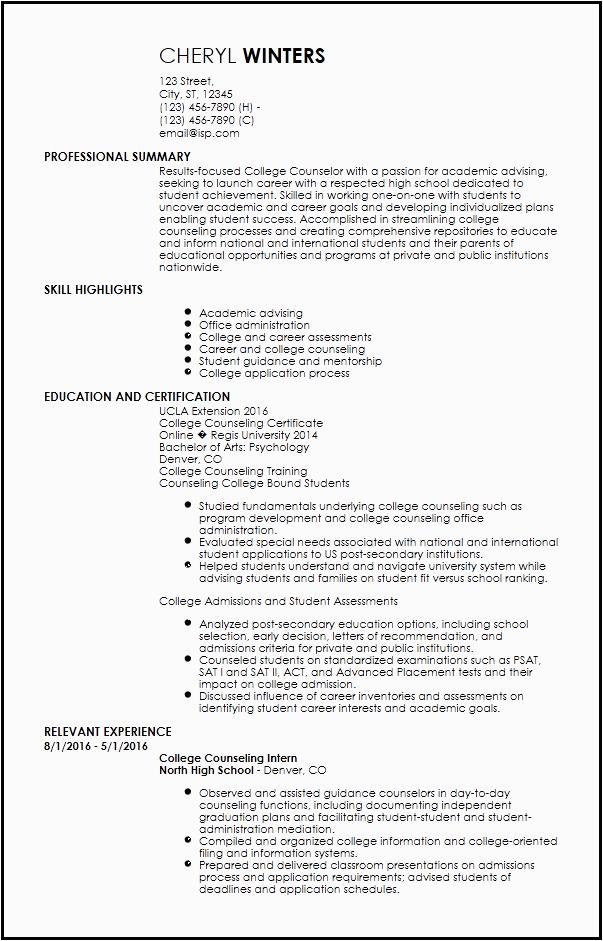 Entry Level Academic Advisor Resume Sample Free Entry Level Academic Advisor Resume Templates